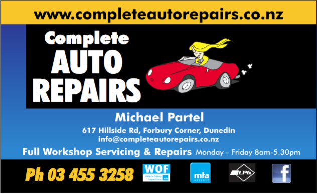 Dunedin's Best Mechanics, Complete Auto Repairs, Dunedin New Zealand